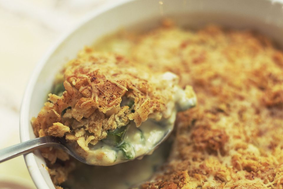 Asparagus casserole with ham and cheese