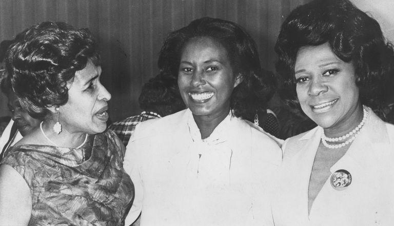 Maryland State Senator Verda Welcome, Congresswoman Yvonne Burke, and Rose Morgan vice president