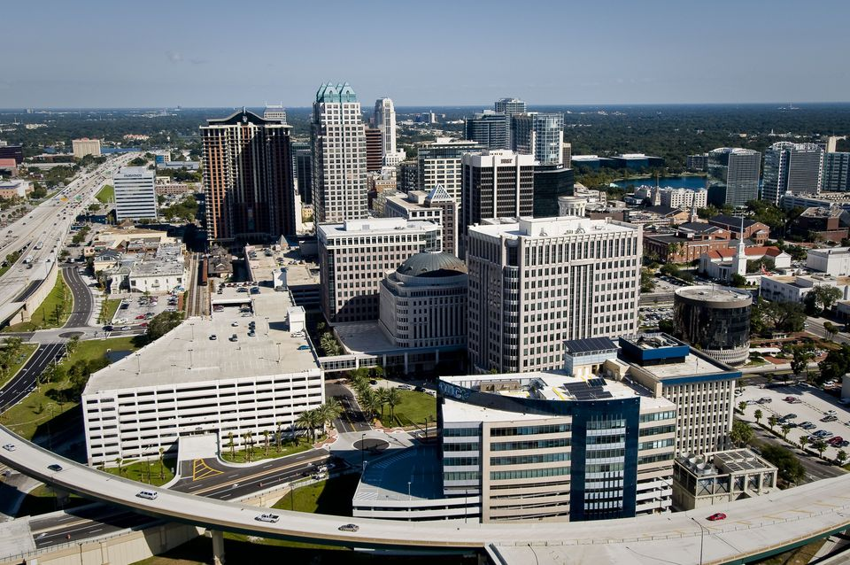 Aerial view of Downtown Orlando