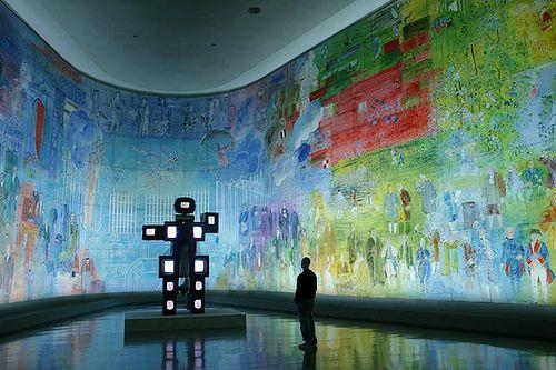 A room at the Musee d'Art Moderne de la Ville de Paris.