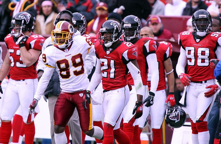 The Atlanta Falcons at a game against the Washington Redskins