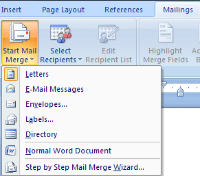 how to do a mail merge in word