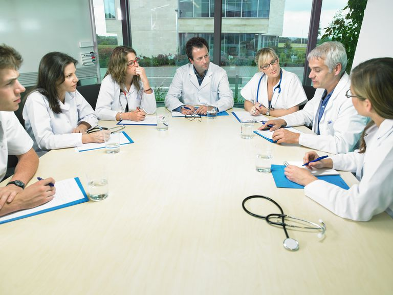 Group of doctors meeting in a conference room