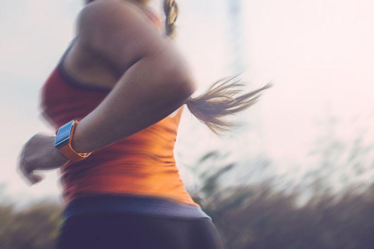 Woman running outdoor.