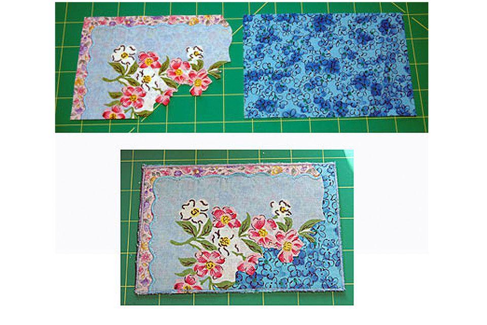 Make Fabric Postcards from Vintage Hankies
