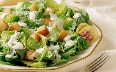 how to make a healthy caesar salad
