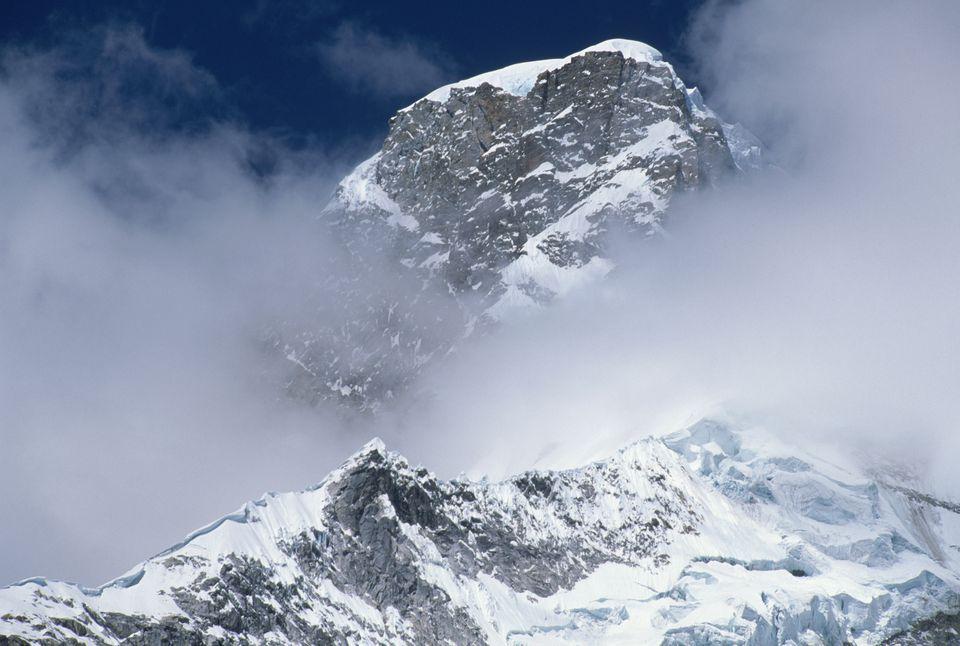 Clouds over Huascaran Mountain