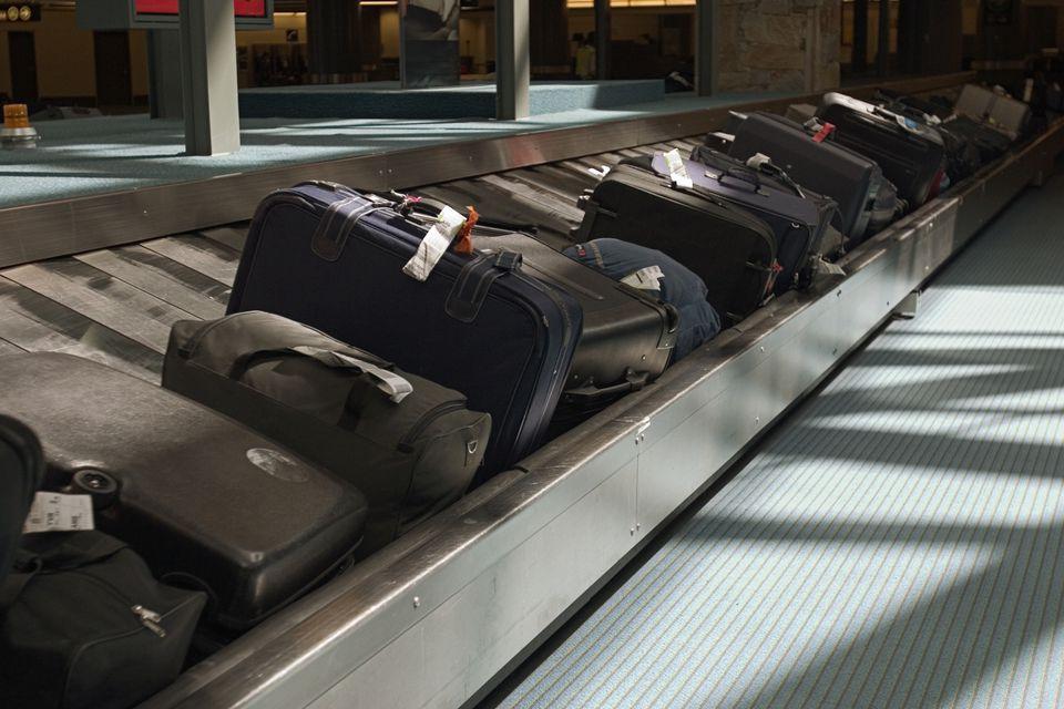 Baggage claim at airport terminal