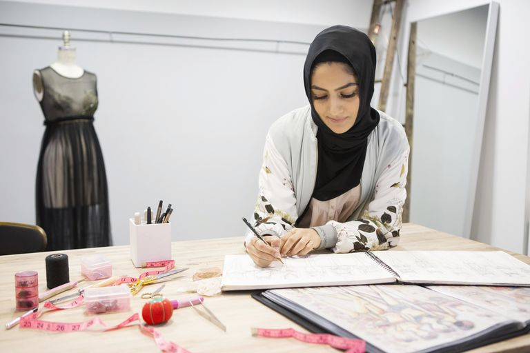 #MuslimGirl Fashion Designer Sketching