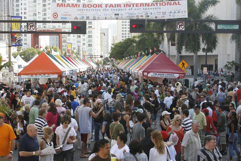 Miami Book Fair International book festival crowd