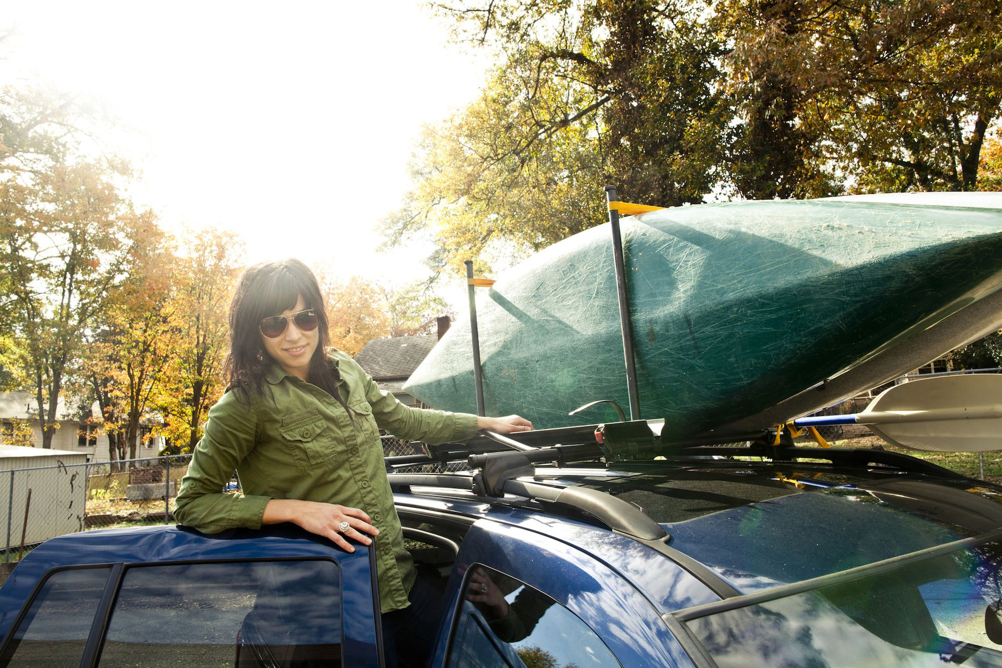 How To Strap Two Kayak To A Roof Rack