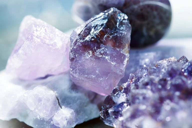 Close-Up Of Amethysts