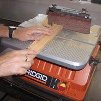 Belt Sanding with an Oscillating Spindle Sander