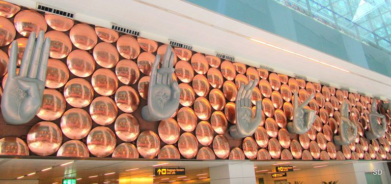 Mudras at Delhi Airport