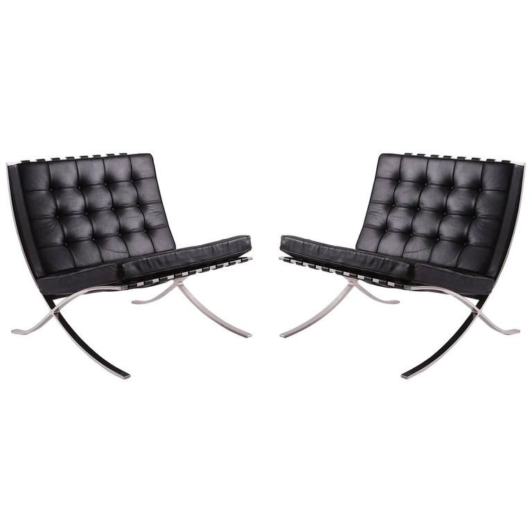 how to identify a genuine knoll barcelona chair. Black Bedroom Furniture Sets. Home Design Ideas