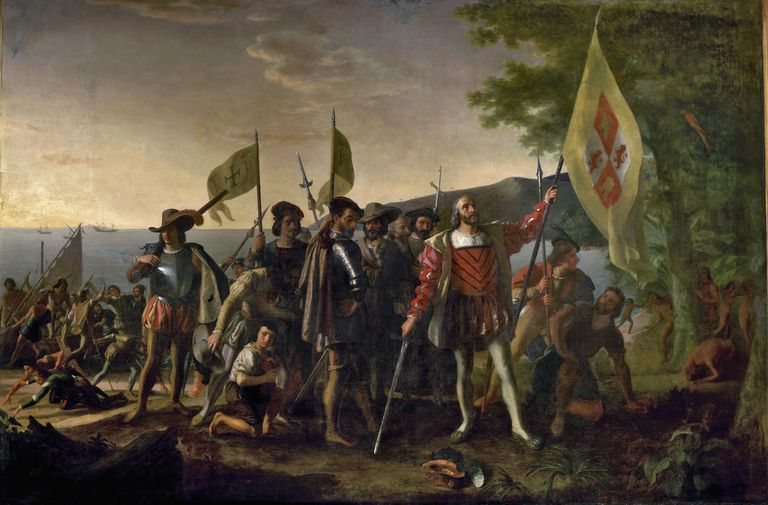 Christopher Columbus's first landing in the Americas in 1492