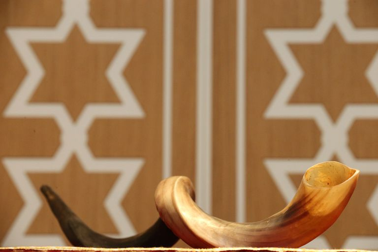 A shofar, made from a horn, is used for Jewish religious purposes.