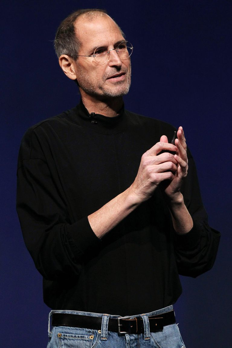 Steve Jobs in 2011 during an Apple launch event.