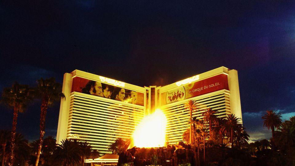 The Volcano in front of Mirage Las Vegas