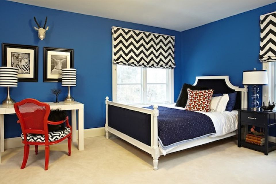 Photo courtesy of Live Like You. While blue and white is a classic bedroom  ...