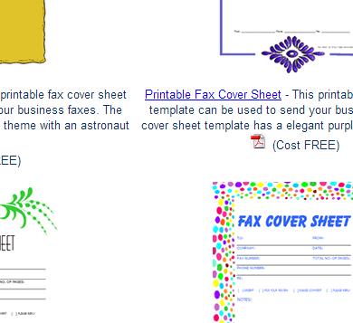 printable fax template