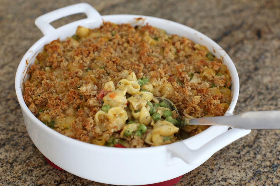 Easy Chicken Macaroni And Cheese Casserole
