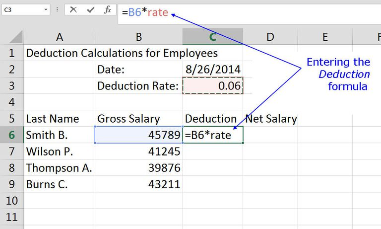 salary calculation sheet