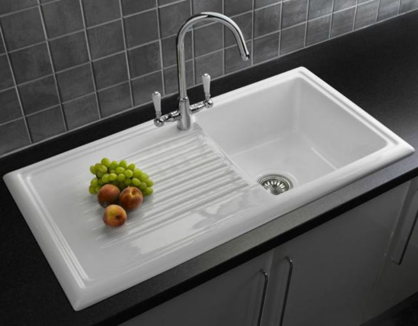 white kitchen sink with drainboard 5 drainboard kitchen sinks you ll 1826