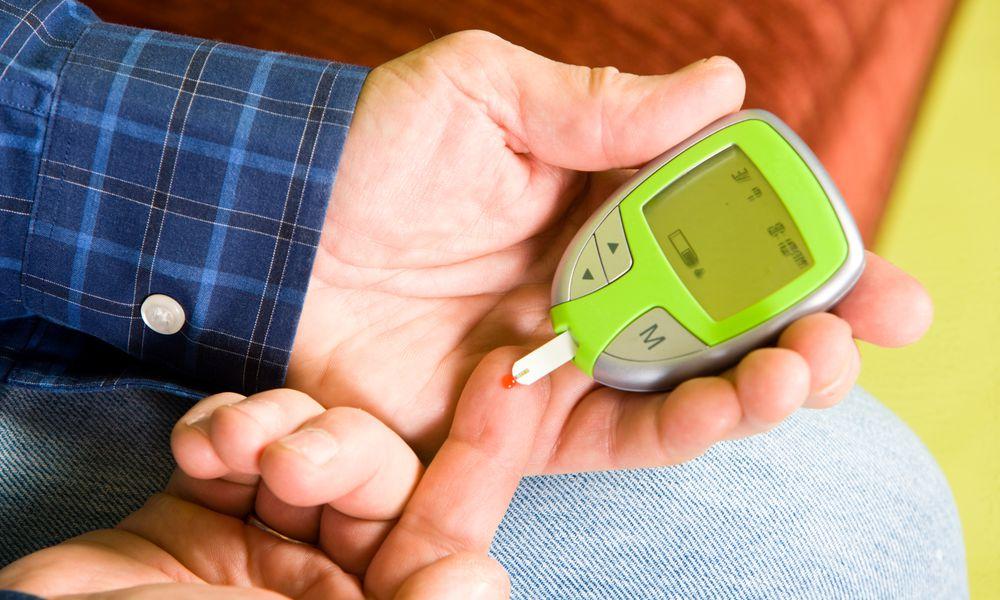 Checking blood sugar
