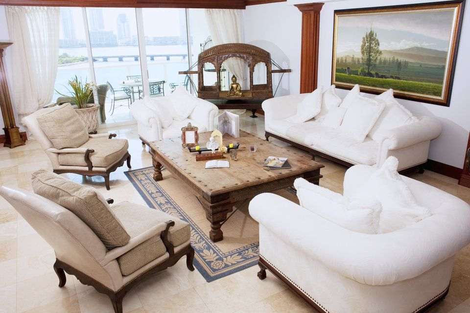 Living room home staging ideas