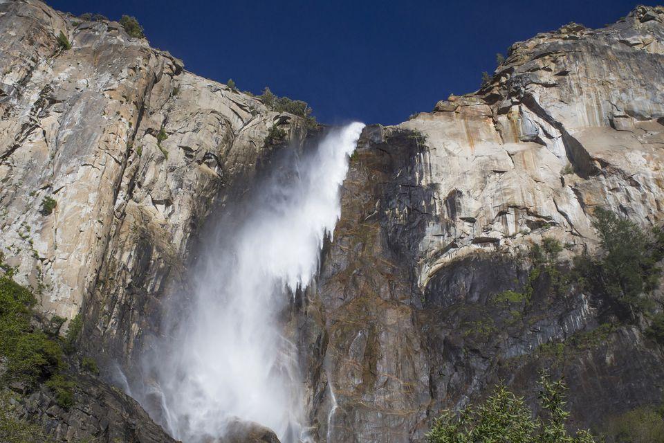 Bridalveil Fall in the Yosemite Valley