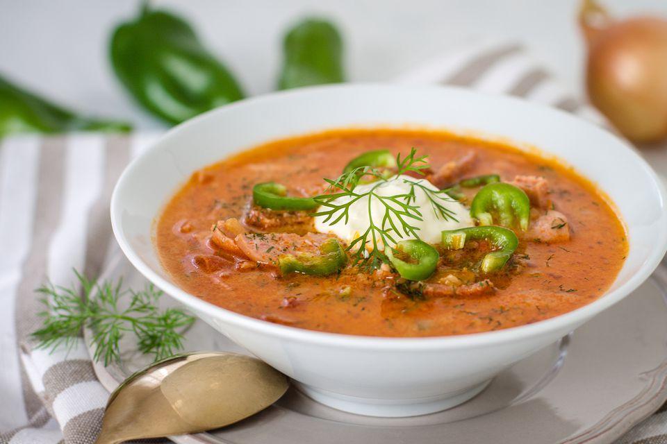 A bowl of solyanka