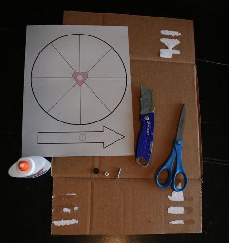 Valentine crafts, Valentine's Day, spinner, wheel, Valentines craft, how to, diy, classroom, kids