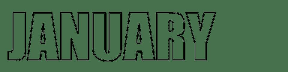 January Digital Stamp or Printable Header