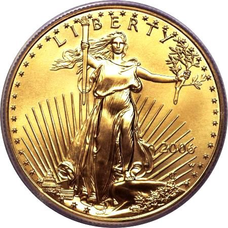 2006 Gold American Eagle Uncirculated Coin Obverse
