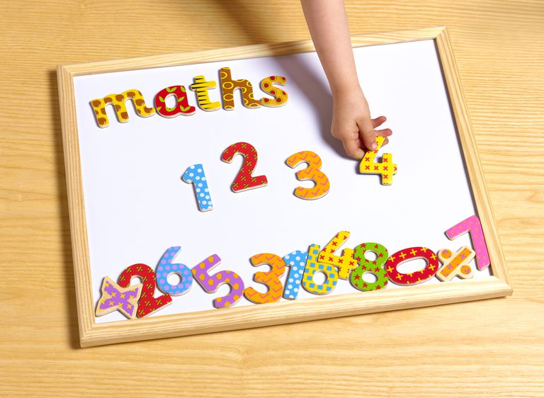 2 year old doing maths