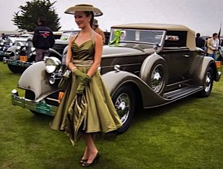 1935 Packard classic car at Concours d'Elegance