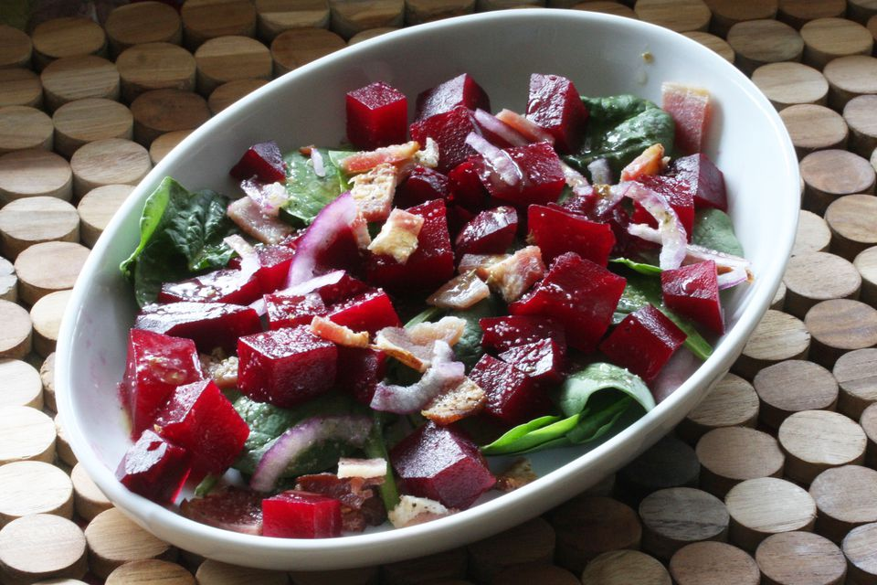 Beet Salad With Spinach