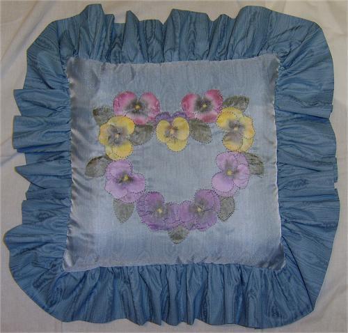 Shadow Appliquéd Pillow Front