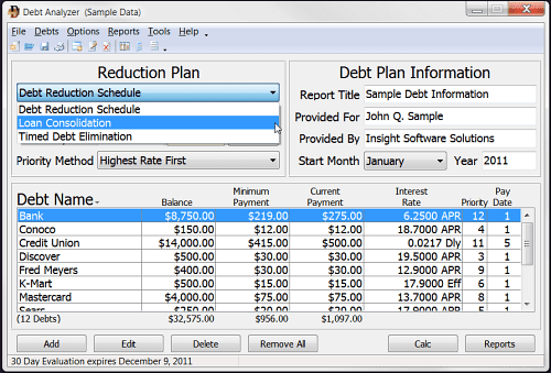 debt reduction plan