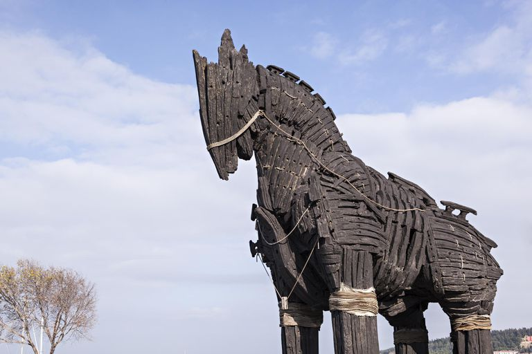 Movie replica of the Trojan Horse, Turkey