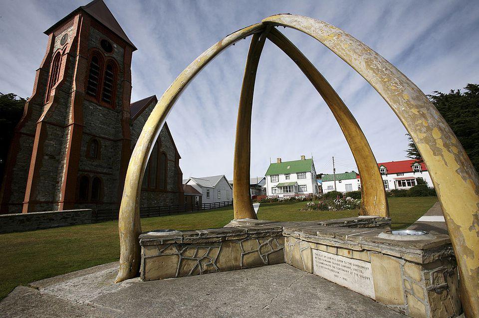 Falkland Islands whalebone arch