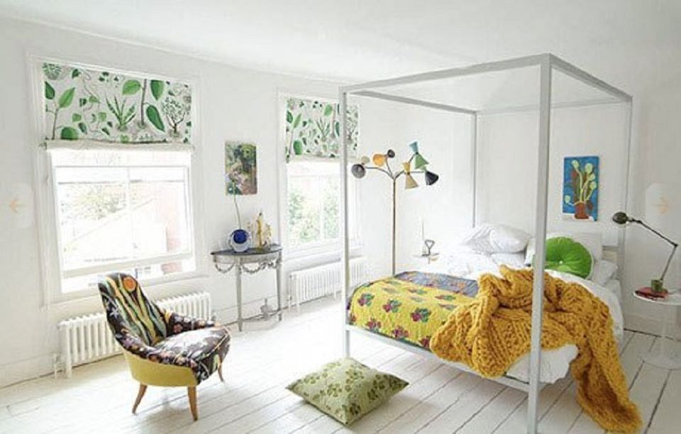 Mix and Match Patterns. Decorating Bedrooms with White Walls
