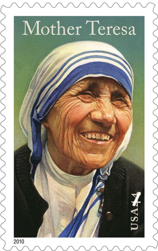 The Mother Teresa stamp was released on September 5, 2010. (Image by Thomas Blackshear II; © USPS)