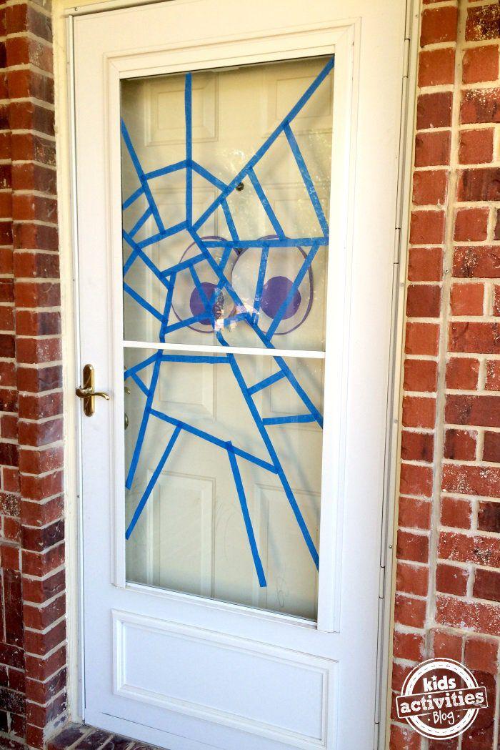Halloween Spider Web Door