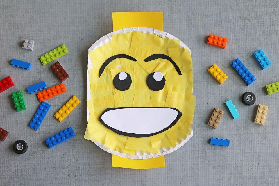 DIY: Paper Plate Lego