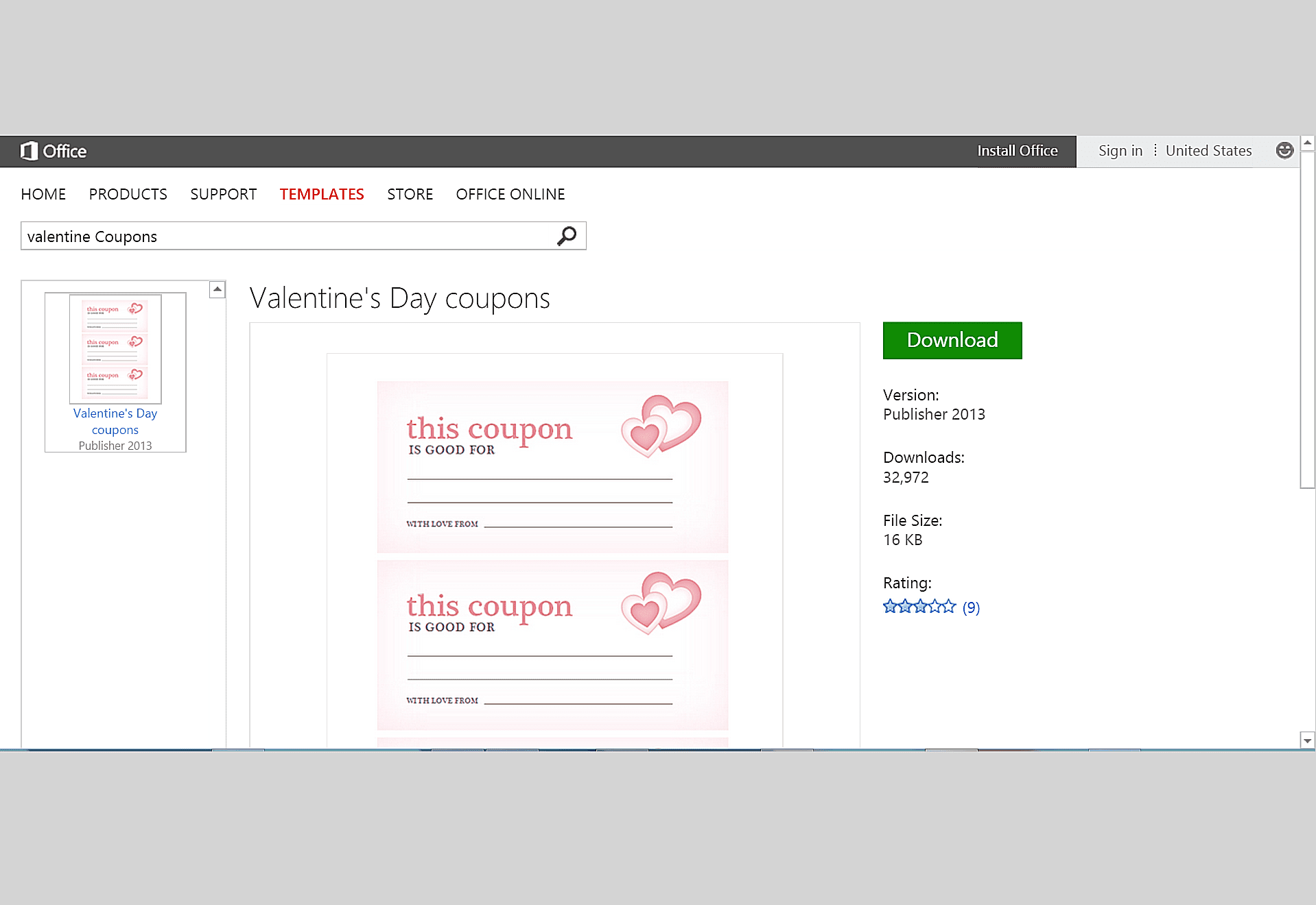 Free Valentine\'s Day Templates for MS Office