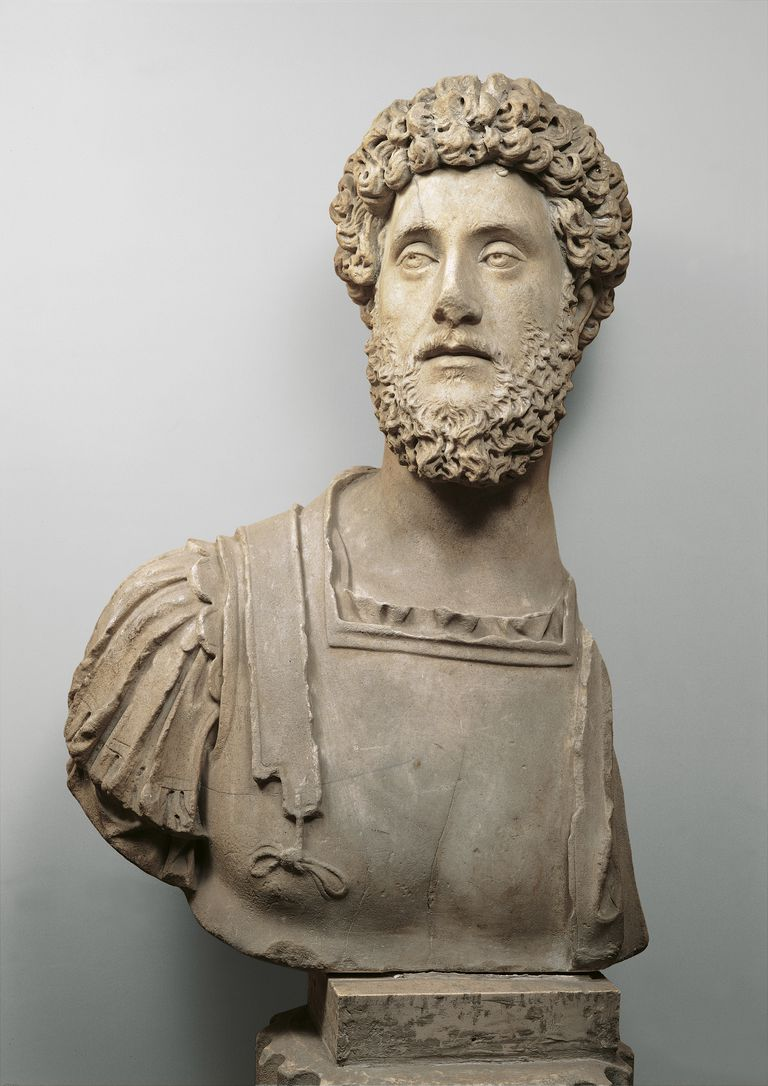 Bust of the Emperor Commodus, 2nd Century, all round,