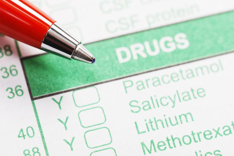 Pen rests on medical form ordering or recording drug use