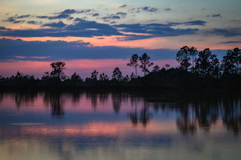 Sunset at Mrazek Pond, Everglades National Park, Florida
